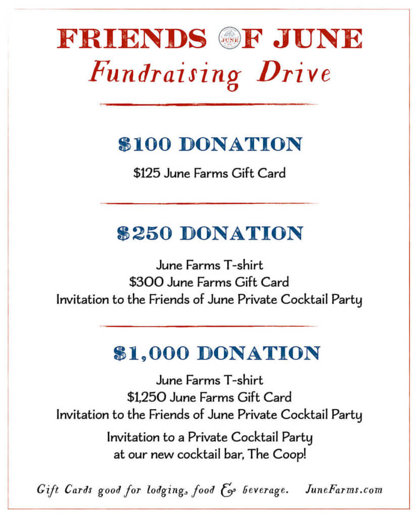 Friends of June Farms fundraising drive